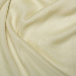 Chiffon Dress Fabric - Cationic | Cream