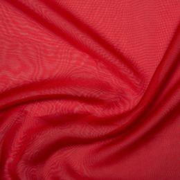 Chiffon Dress Fabric - Cationic | Bright Red