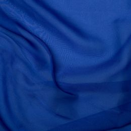 Chiffon Dress Fabric - Cationic | Royal