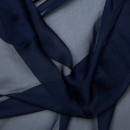 Chiffon Dress Fabric - Cationic | Navy