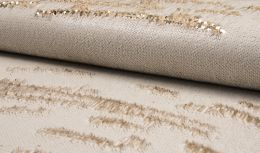Cocktail Two Tone Sequin Fabric | Gold - Ecru
