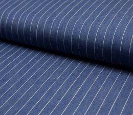 Jacquard Weave Denim Fabric | Broad Stripe Mid Jeans