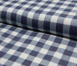 Denim Fabric   Broad Check Dark Jeans