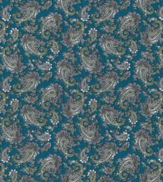Paisley Printed Lining Fabric | Turquoise