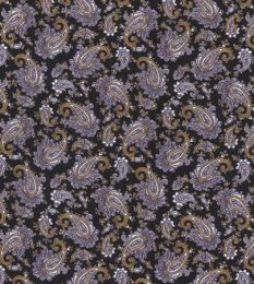 Paisley Printed Lining Fabric | Black