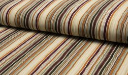 Crinkle Voile Stripe | Light Brown & Beige