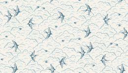 Grove Fabric Makower   Swallows Cream