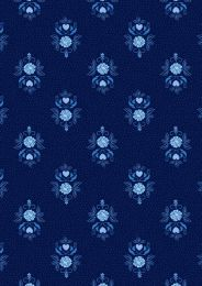 Teatime Lewis & Irene Fabric | Little Bird Roses Darkest Blue