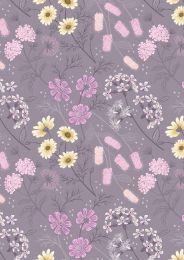 Botanic Garden Fabric | Garden Floral Warm Lilac
