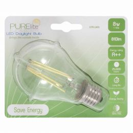 LED Natural Daylight Blub - 8w Screw Fitting