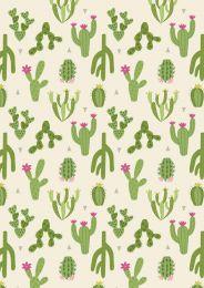 Lewis & Irene Jersey Fabric | Paracas Cacti