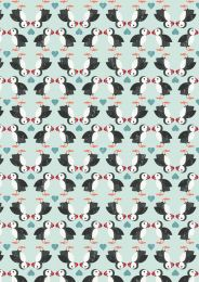 Lewis & Irene Jersey Fabric | Spindrift Puffin