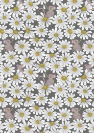 Lewis & Irene Jersey Fabric | Friendly Field Mouse