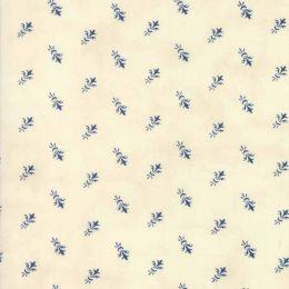 Indigo Gatherings Fabric | Fleur-De-Lis Bouquet Moon