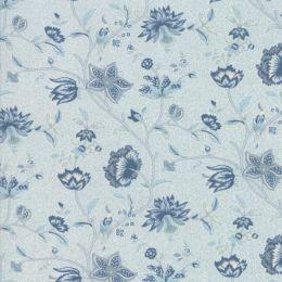 Le Beau Papillon Fabric | Euthalia Tonal Blue Dust