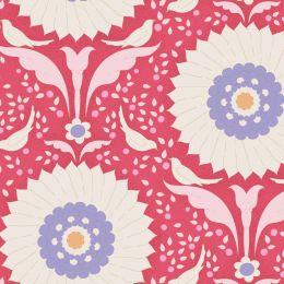 Bon Voyage Tilda Fabric   Ringflower Red