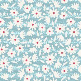 Bon Voyage Tilda Fabric | Paperflower Teal