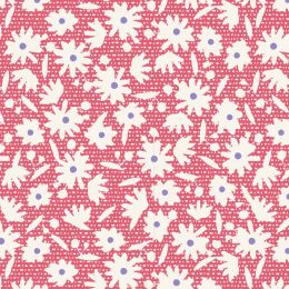 Bon Voyage Tilda Fabric | Paperflower Red
