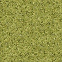 Dog On It Fabric   Holey Scrolls Green Metallic