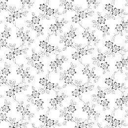 White On White Fabric | Floral Vine