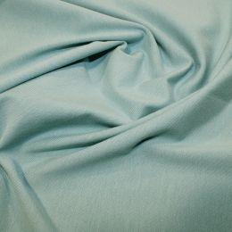 Organic Jersey Fabric Plain   Duckegg