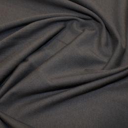 Organic Jersey Fabric Plain   Dark Grey