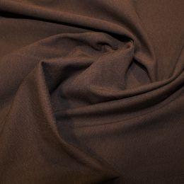 Organic Jersey Fabric Plain | Chocolate