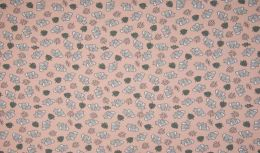 Organic Jersey Fabric | Elephants Rose