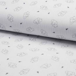 Triple Gauze Fabric | Elephant White