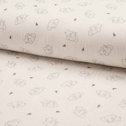 Triple Gauze Fabric | Elephant Ecru