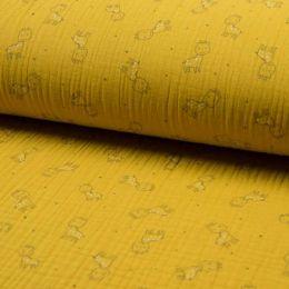 Triple Gauze Fabric | Giraffe Ochre