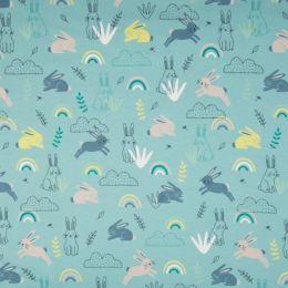 Jersey Cotton Fabric | Rabbit Mint