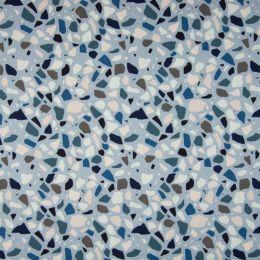 Jersey Cotton Fabric | Pebbles Pale Blue