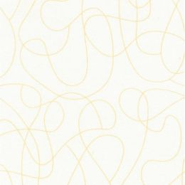 Extra Wide Fabric | Squiggle Natural