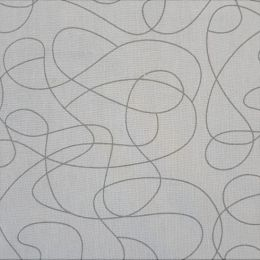 Extra Wide Fabric | Squiggle Grey