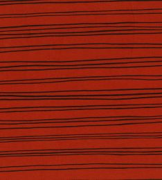 Organic Jersey Fabric | Stripes Terracotta