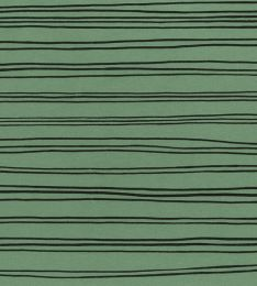 Organic Jersey Fabric | Stripes Green