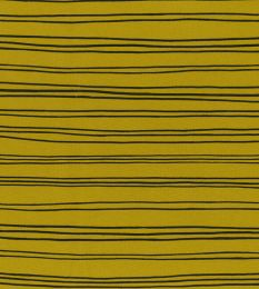 Organic Jersey Fabric | Stripes Ochre