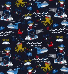 Organic Jersey Fabric | King Of Pirates Navy