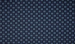 Jersey Cotton Fabric | Stylised Floral Navy