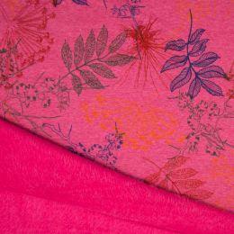 Luxury Sweatshirt Fabric | Forest Pink