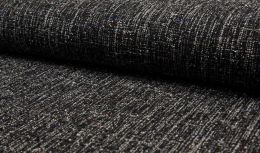 Wool Touch Fabric   Paris Black