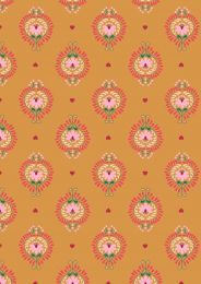 Maya Lewis & Irene Fabric | Floral Heart Amber