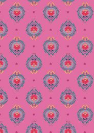 Maya Lewis & Irene Fabric | Floral Heart Pink