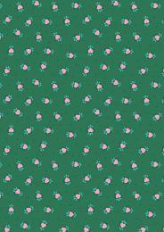 Maya Lewis & Irene Fabric | Boho Hearts Green
