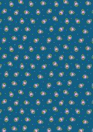 Maya Lewis & Irene Fabric | Boho Hearts Blue