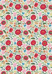 Maya Lewis & Irene Fabric | Folksy Flowers White