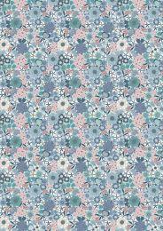 Michaelmas Fabric | Multi Floral Light Blue