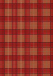 Celtic Coorie Fabric | Check Warm Reds