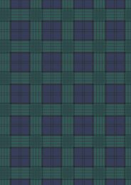 Celtic Coorie Fabric | Check Blue & Green